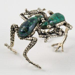 2 Frogs Stone Bracelet