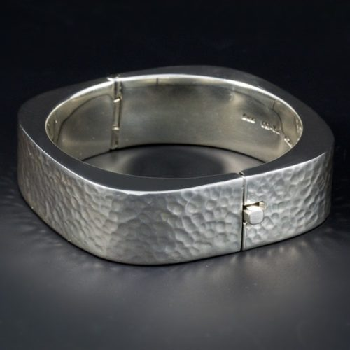 Hammered Rectangular Bracelet