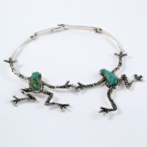 2 Frogs Stone Necklace