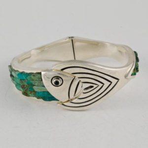 Malaquite Fish Bracelet