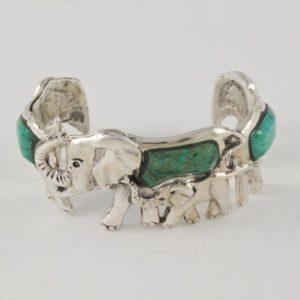 Malaquite Elephants Bracelet