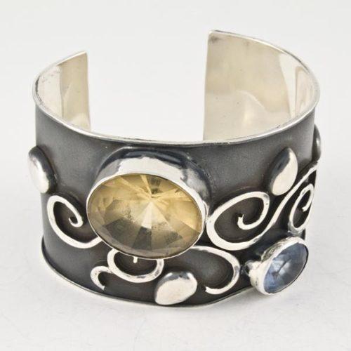 Green & Blue Stones Bracelet