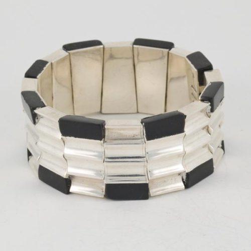 Jagged Onix Bracelet