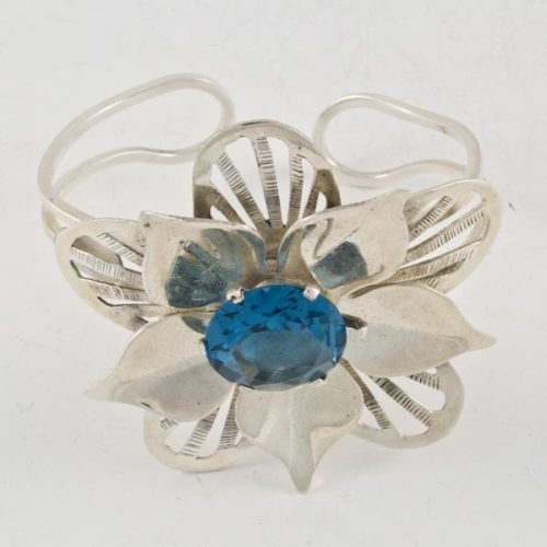 Flower with Blue Stone