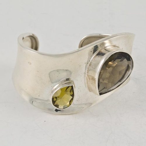 Yellow & Brown Stones Plain Bracelet