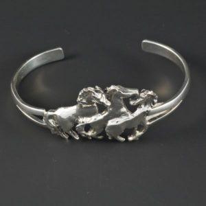 Silver Horses Bracelet