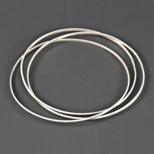 3 Flat Thin Bracelets