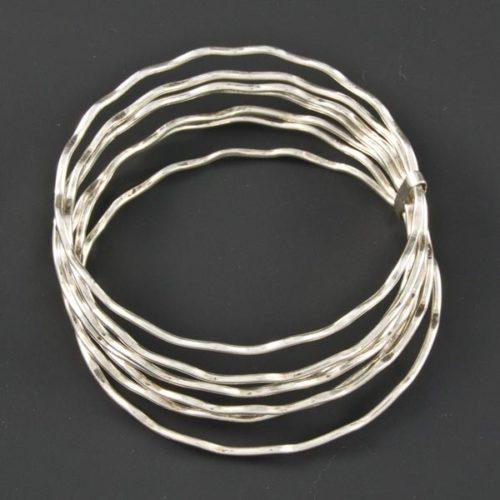 7 Wavy Bracelets