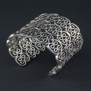 Plain Silver Grid Bracelet