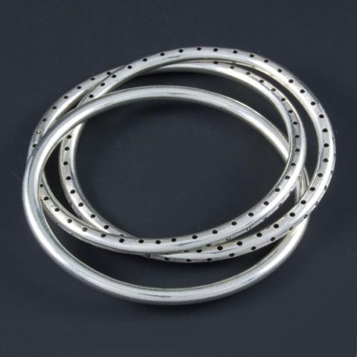3 Plain Hollow Rings