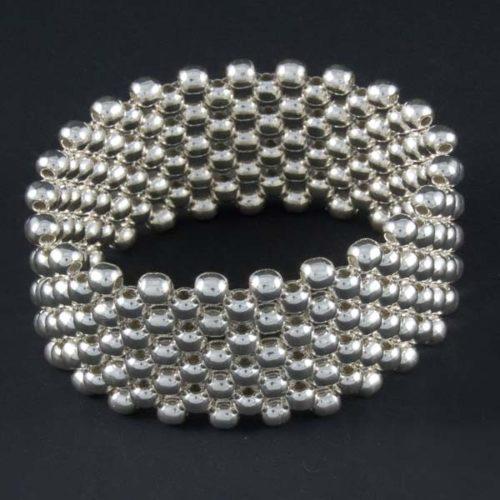 Silver Marbles Circular Bracelet