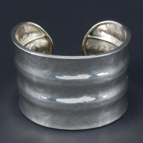 Hammered Silver Bracelet