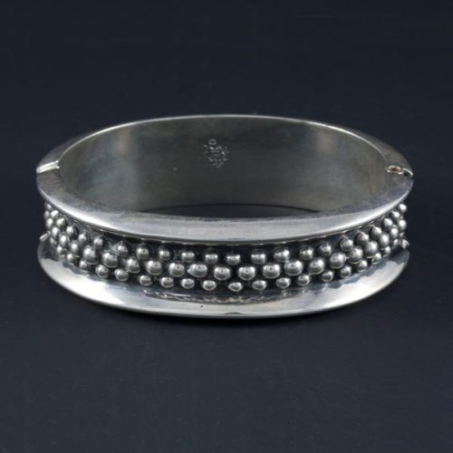 Circle with Embedded Silver Marbles