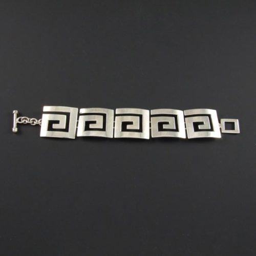 5 Flat Squares Plain Bracelet