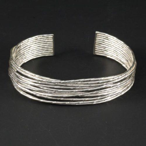 Knott with Oxide Silver Bracelet