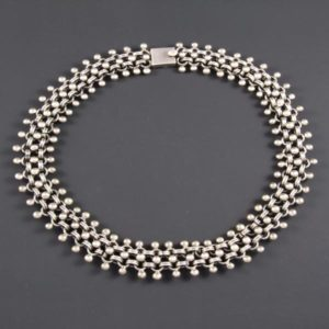 Mini Silver Marbles Circular Necklace