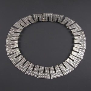 Circular Silver Necklace