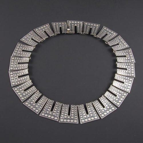 Circular Silver Necklace
