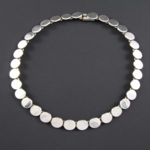 Linked Flat Circles Necklace