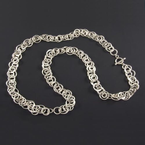 Linked Small Circles Necklace