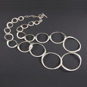 Flat Circles Plain Necklace