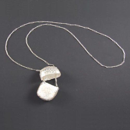 Silver Basket Necklace