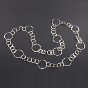 Linked Circles Elegant Necklace