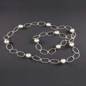 Chain with Silver Marbles