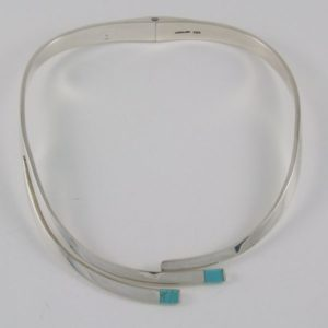 Plain Necklace with Turquoise Tips
