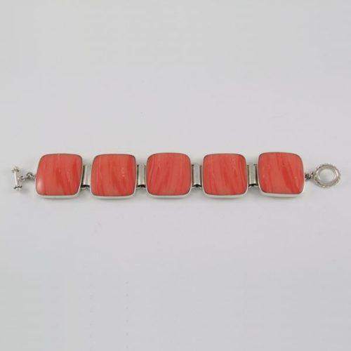 Coral Stones Elegant Bracelet