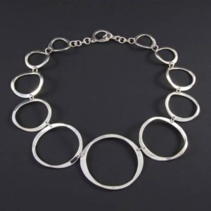 Bent Circles Necklace
