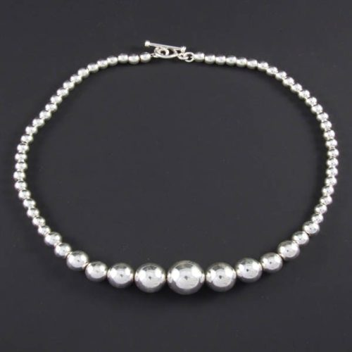 Silver Marbles Necklace