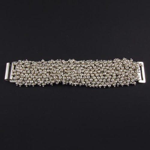 Silver Marbles Plain Bracelet