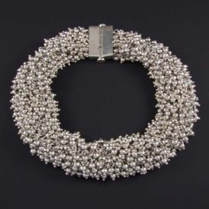 Silver Marbles Plain Necklace