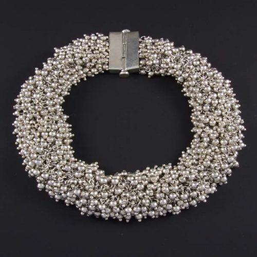 Silver Marbles Plain Necklace