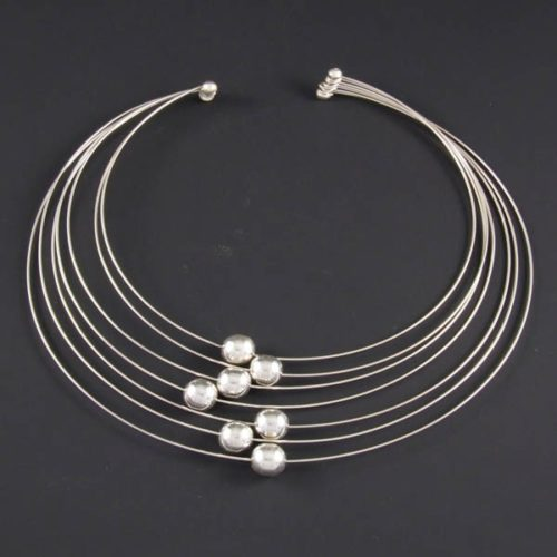 Fine Necklace with Silver Marbles