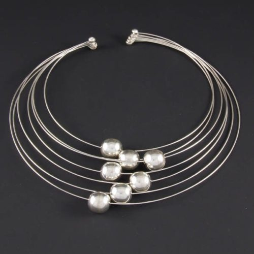 Wires with Silver Marbles