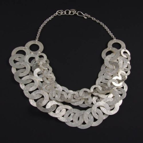 Brushed Circles Necklace