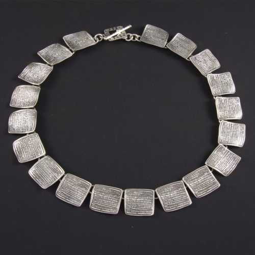 Textured Squares Necklace