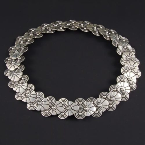 Silver Flowered Necklace