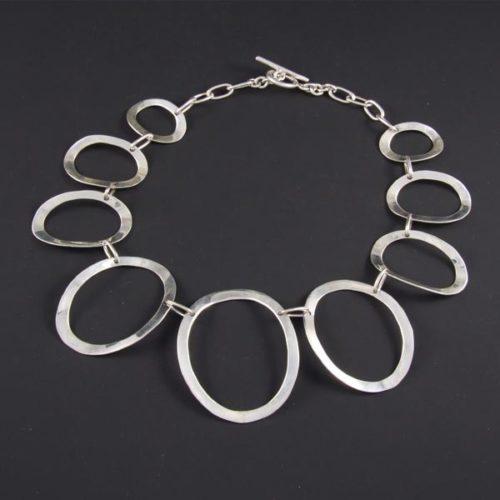 Bent Linked Ovals Necklace
