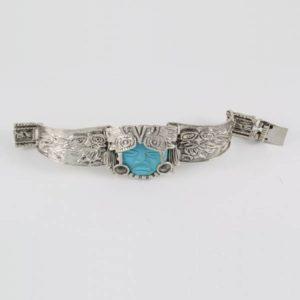 Turquoise Face Bracelet