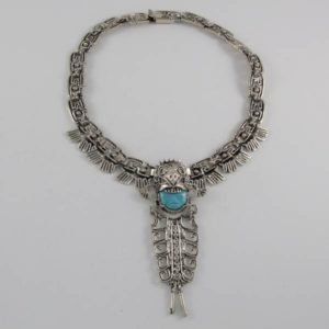 Turquoise Face Necklace