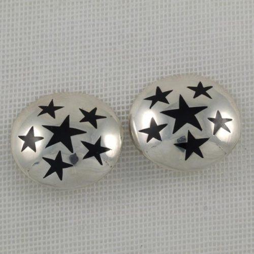 Onix Stars Earrings
