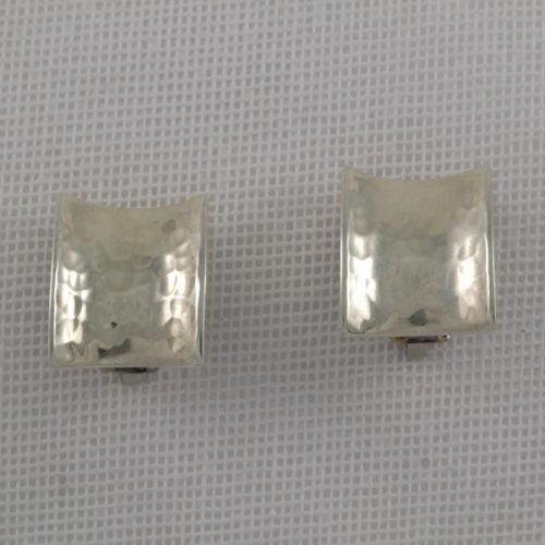 Hammered Concave Earrings