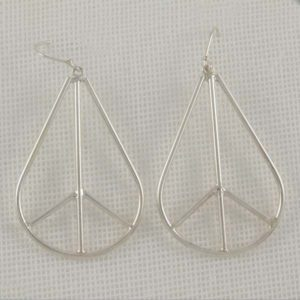 Peace Symbol Earrings - Large