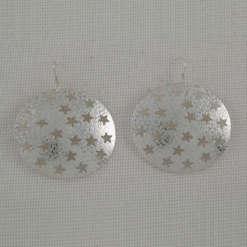 Textured Starry Earrings
