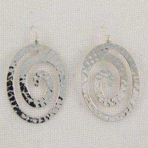 Hammered Oval Spirals