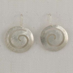 Brushed Spiral Circles