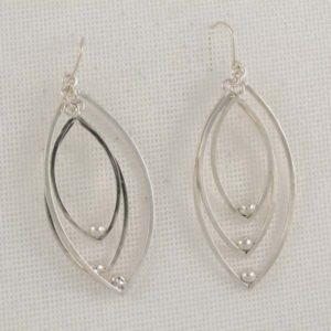 3 Ovals Plain Earrings